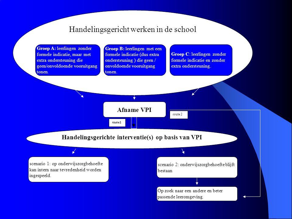 Handelingsgerichte interventie(s) op basis van VPI
