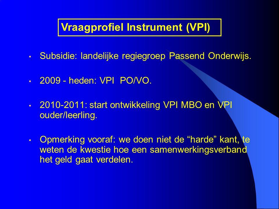 Vraagprofiel Instrument (VPI)