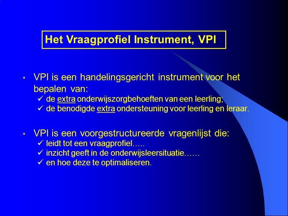 Het Vraagprofiel Instrument, VPI