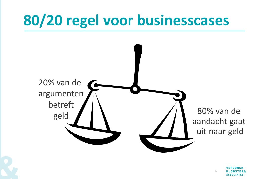 80/20 regel voor businesscases