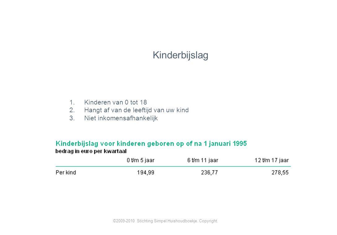 Kinderbijslag Kinderen van 0 tot 18