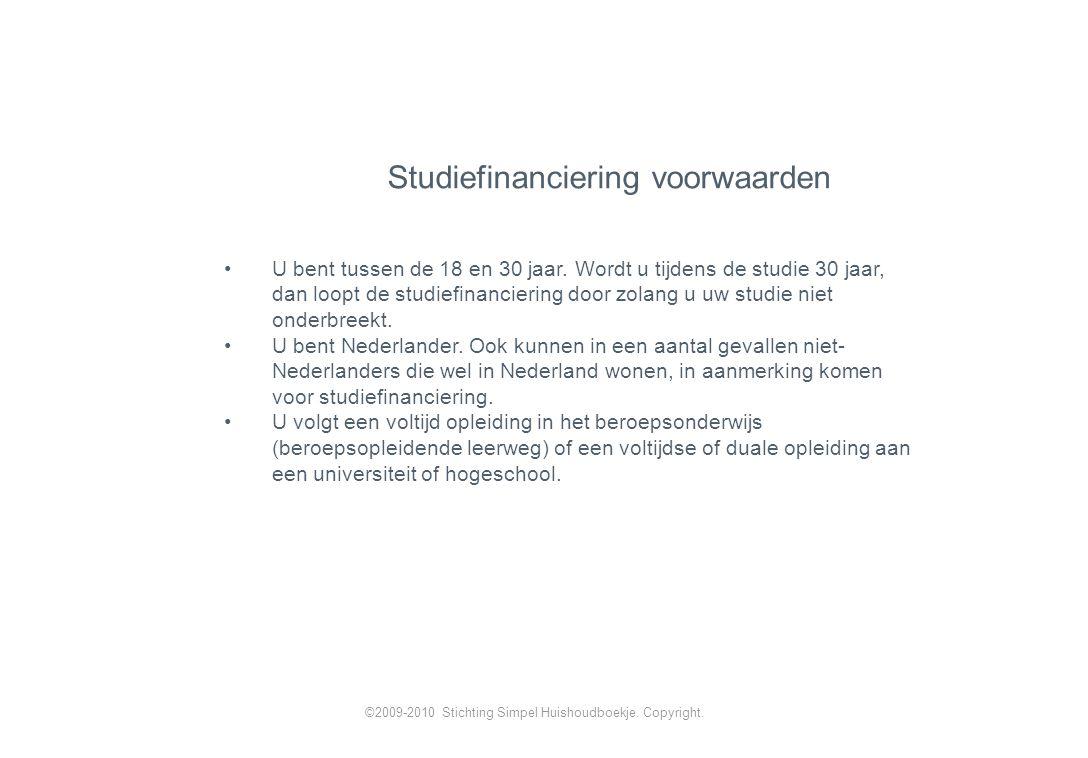 Studiefinanciering voorwaarden