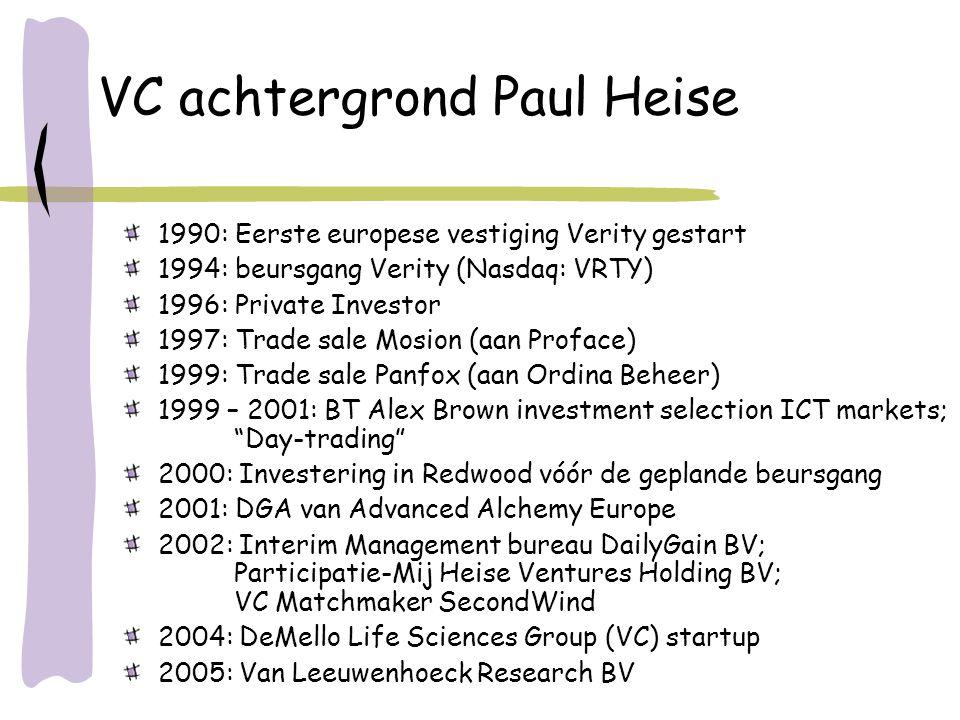 VC achtergrond Paul Heise