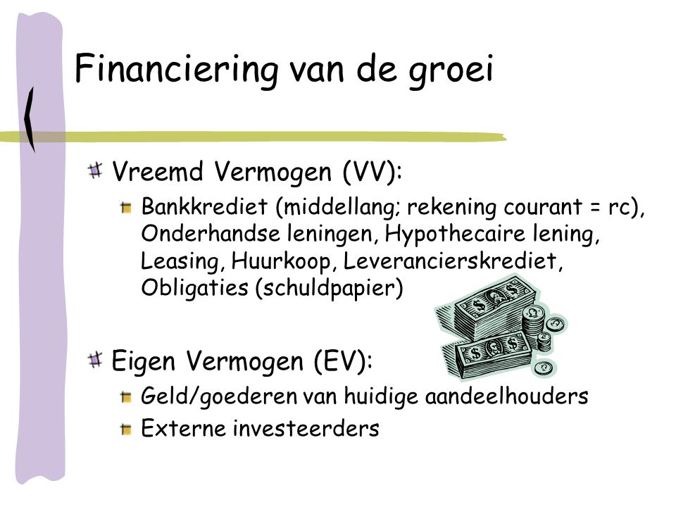 Financiering van de groei