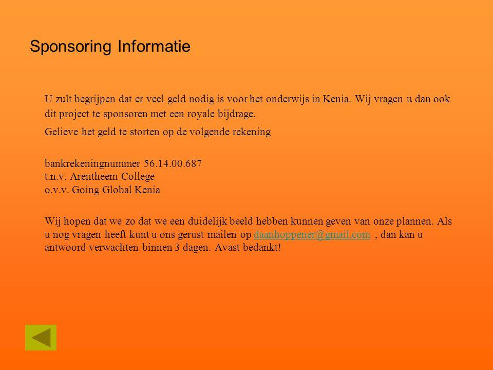 Sponsoring Informatie