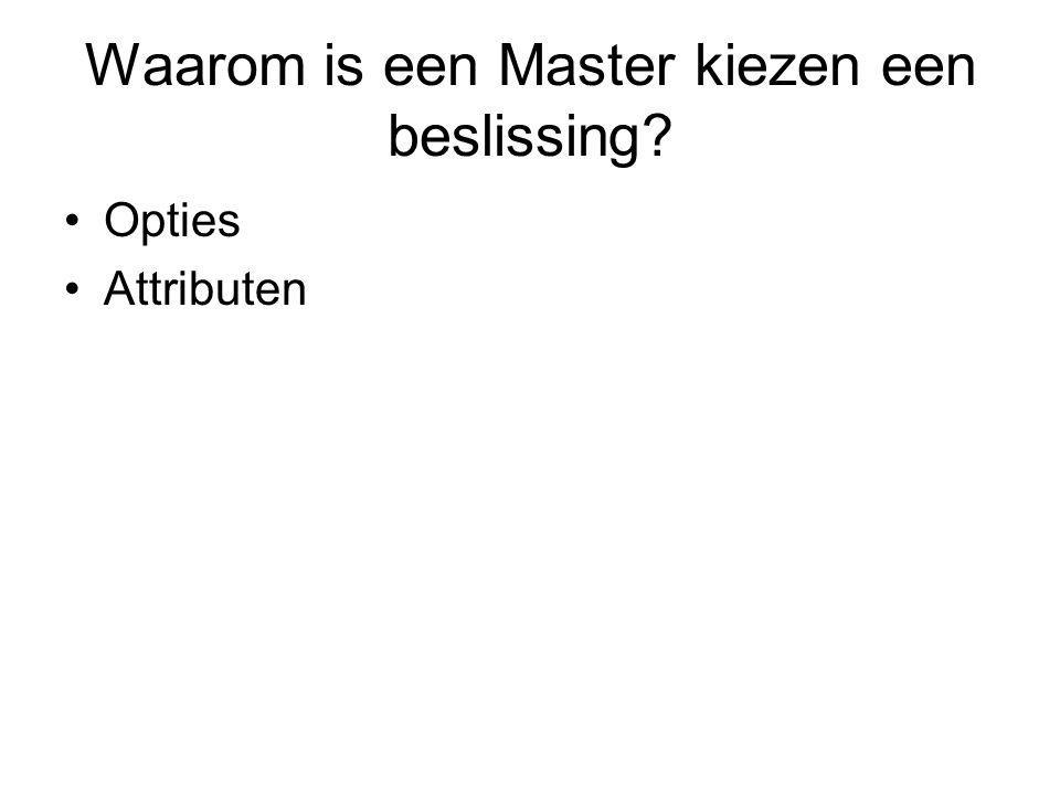 Waarom is een Master kiezen een beslissing