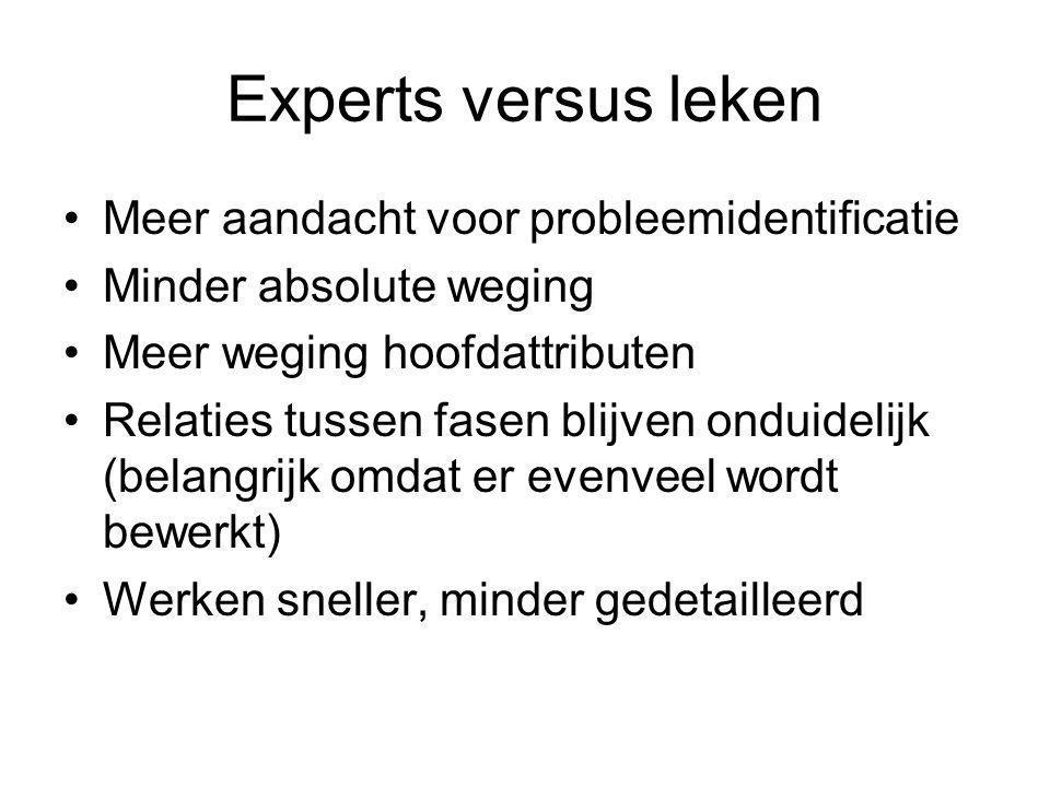 Experts versus leken Meer aandacht voor probleemidentificatie