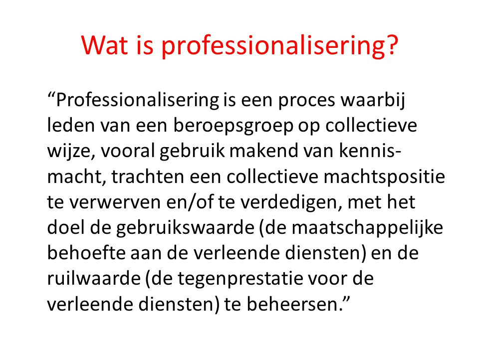 Wat is professionalisering