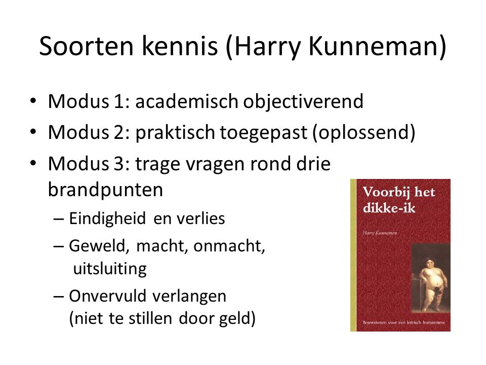 Soorten kennis (Harry Kunneman)