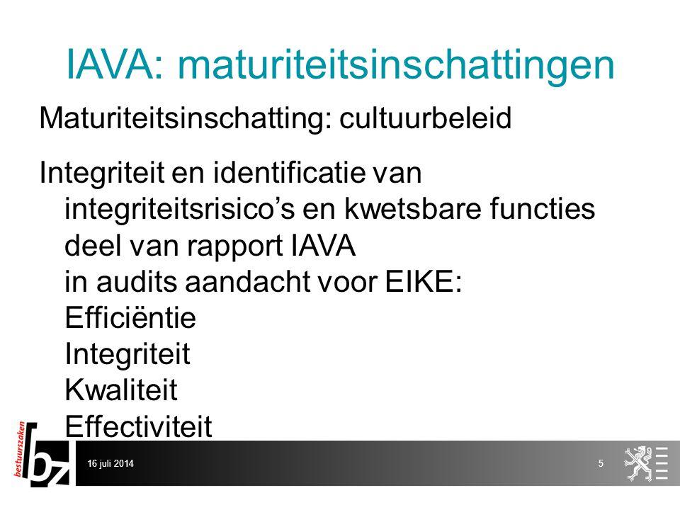 IAVA: maturiteitsinschattingen