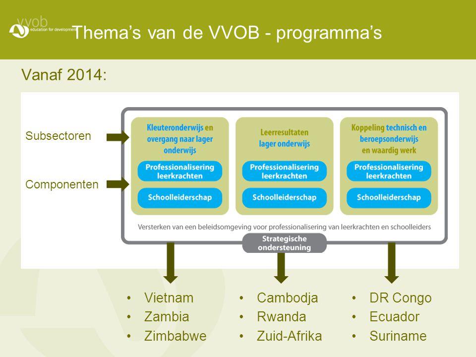 Thema's van de VVOB - programma's