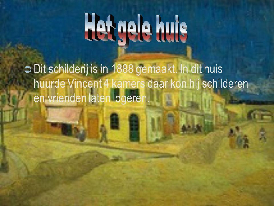 Het gele huis Dit schilderij is in 1888 gemaakt.