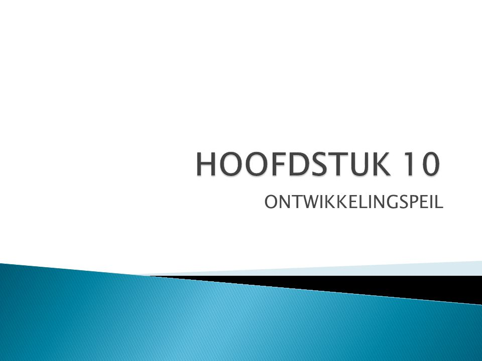 HOOFDSTUK 10 ONTWIKKELINGSPEIL