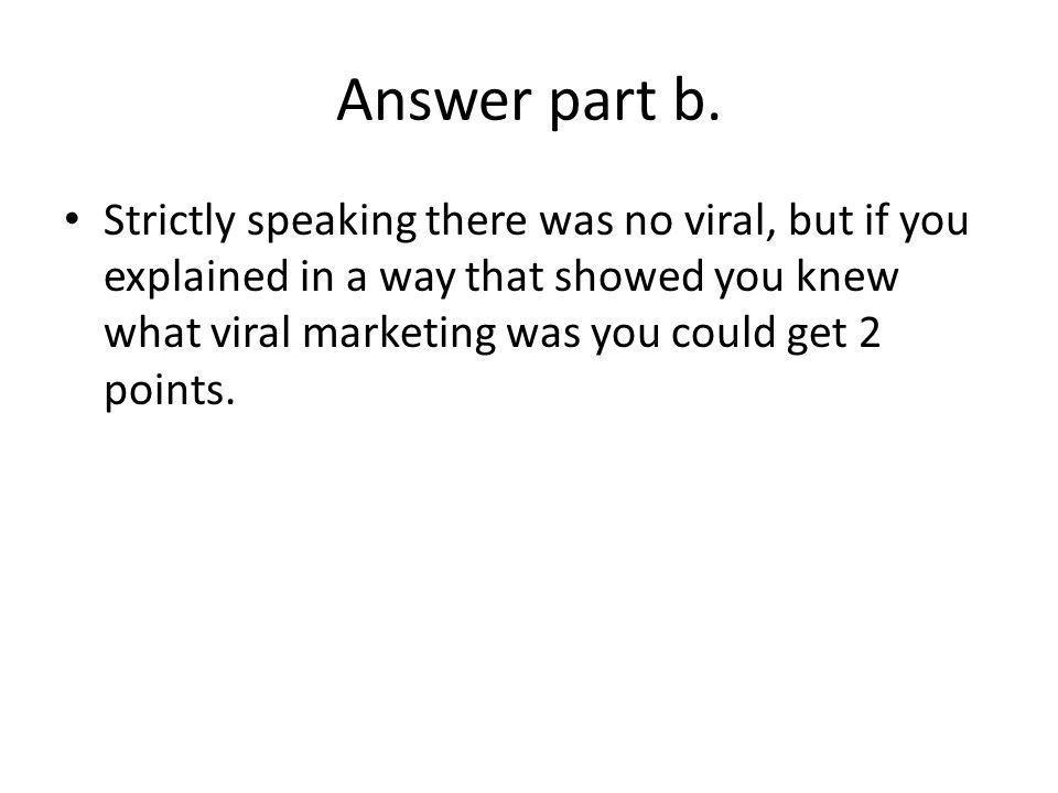 Answer part b.