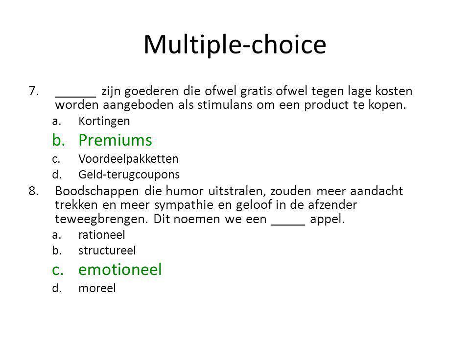 Multiple-choice Premiums emotioneel