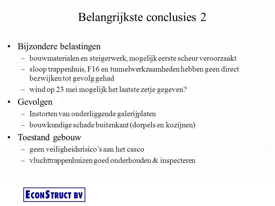 Belangrijkste conclusies 2