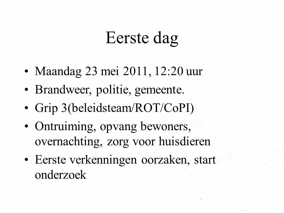 Eerste dag Maandag 23 mei 2011, 12:20 uur