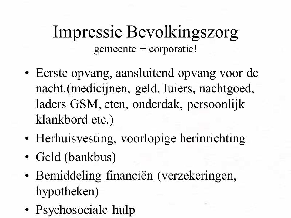 Impressie Bevolkingszorg gemeente + corporatie!