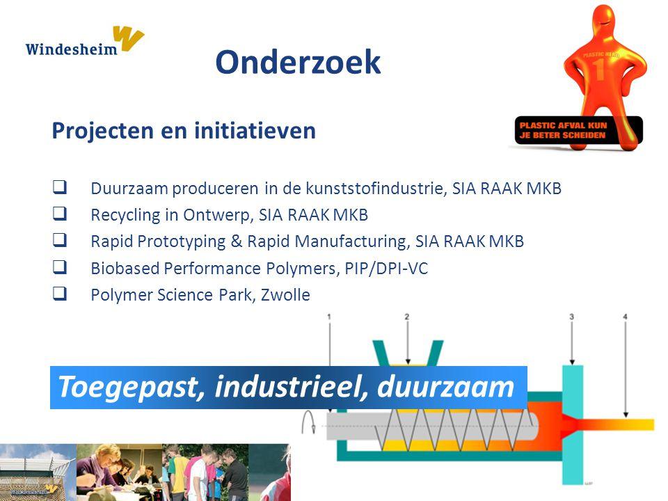 Onderzoek Toegepast, industrieel, duurzaam Projecten en initiatieven