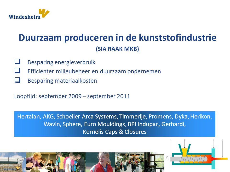 Duurzaam produceren in de kunststofindustrie