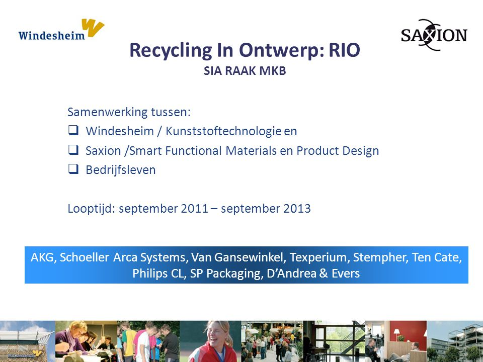 Recycling In Ontwerp: RIO