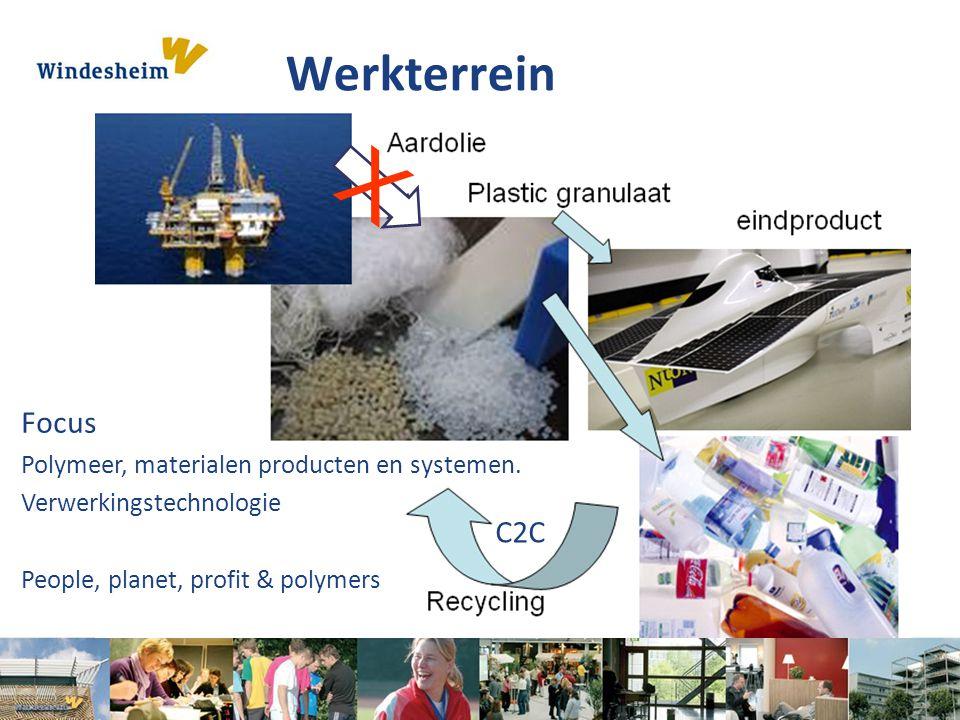 X Werkterrein Focus C2C Polymeer, materialen producten en systemen.