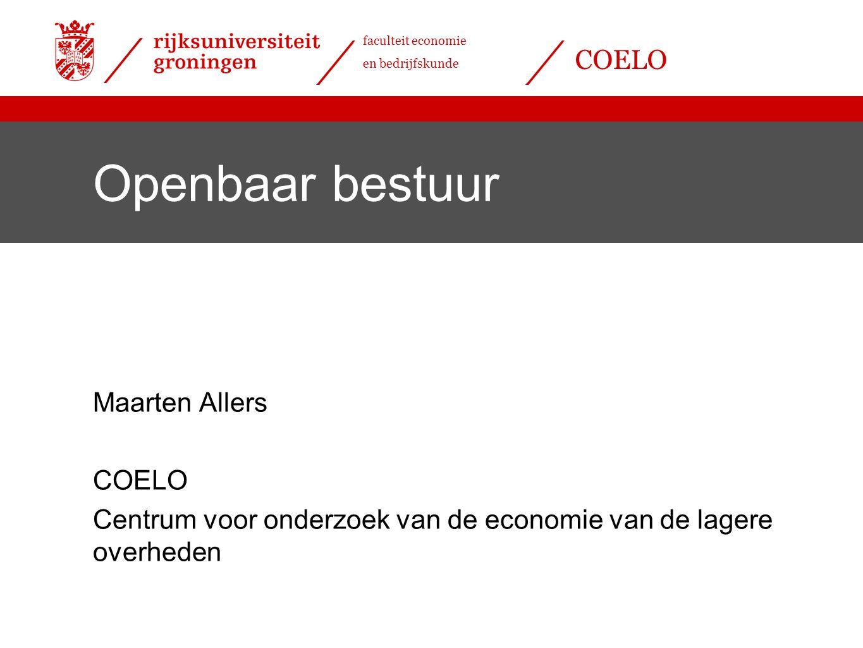 Openbaar bestuur Maarten Allers COELO