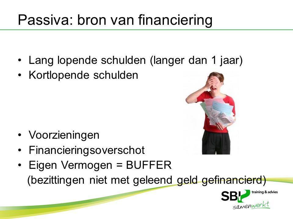 Passiva: bron van financiering