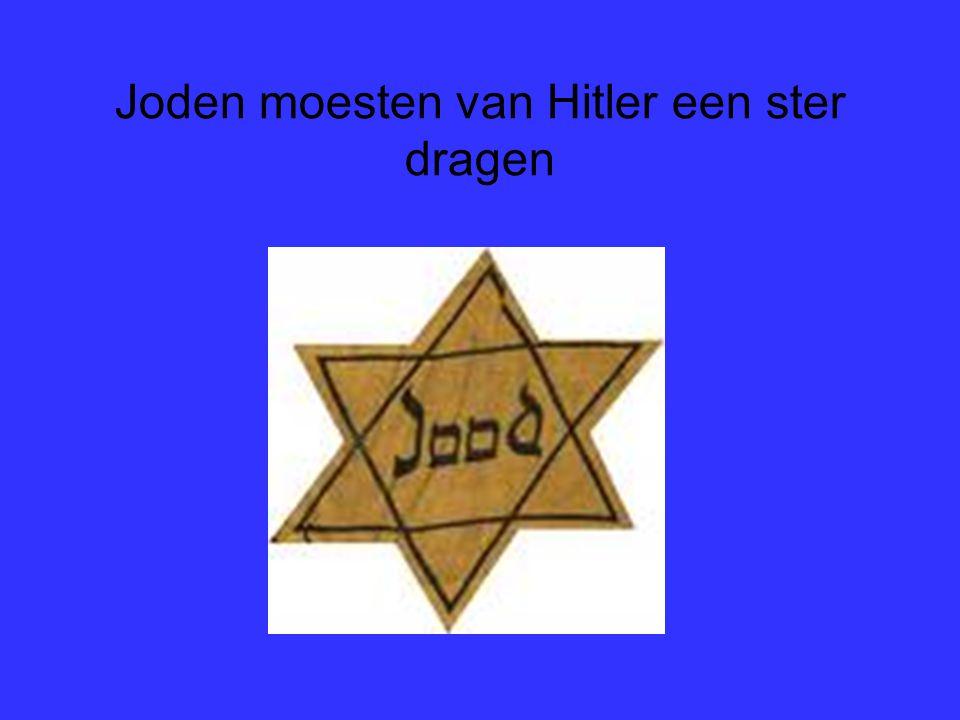 Joden moesten van Hitler een ster dragen