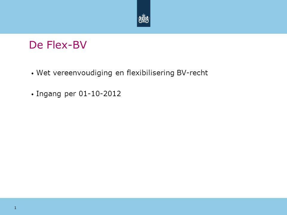 De Flex-BV Wet vereenvoudiging en flexibilisering BV-recht