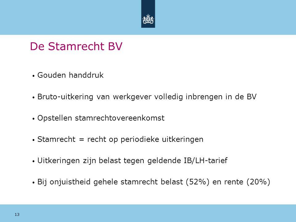 De Stamrecht BV Gouden handdruk