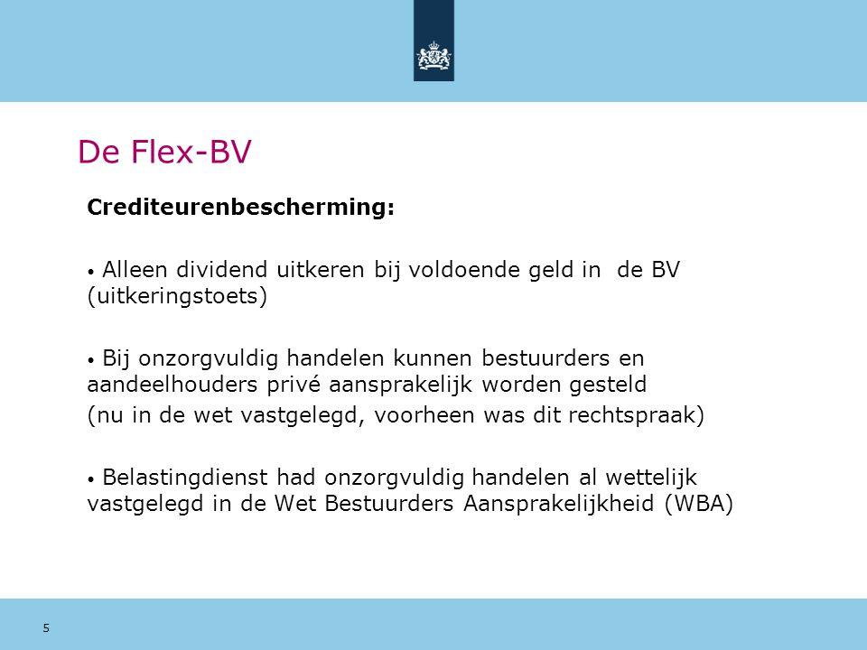 De Flex-BV Crediteurenbescherming: