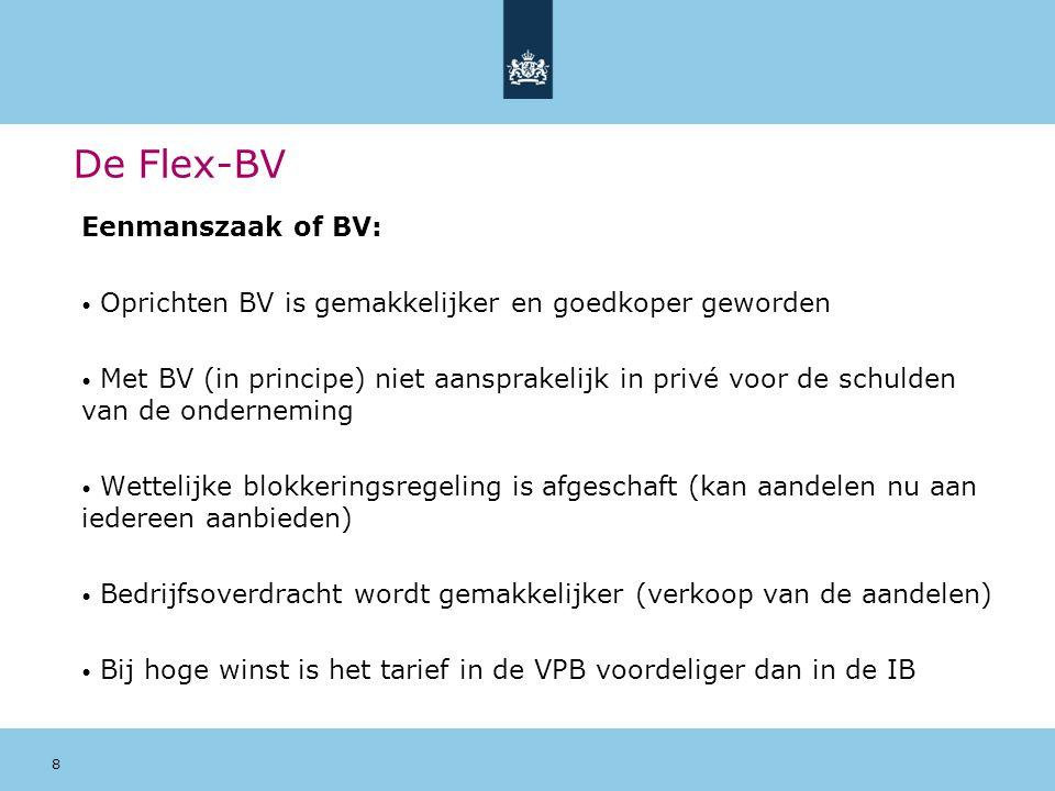 De Flex-BV Eenmanszaak of BV: