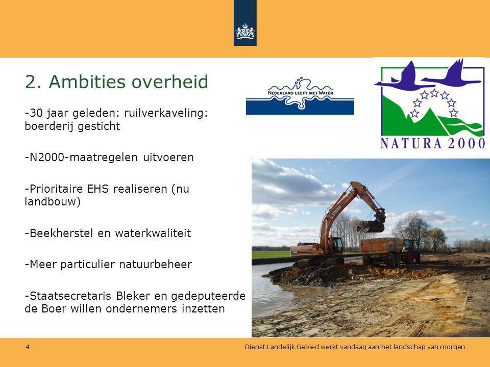 2. Ambities overheid 30 jaar geleden: ruilverkaveling: boerderij gesticht. N2000-maatregelen uitvoeren.