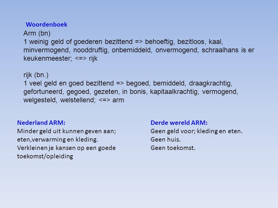 Woordenboek Arm (bn)
