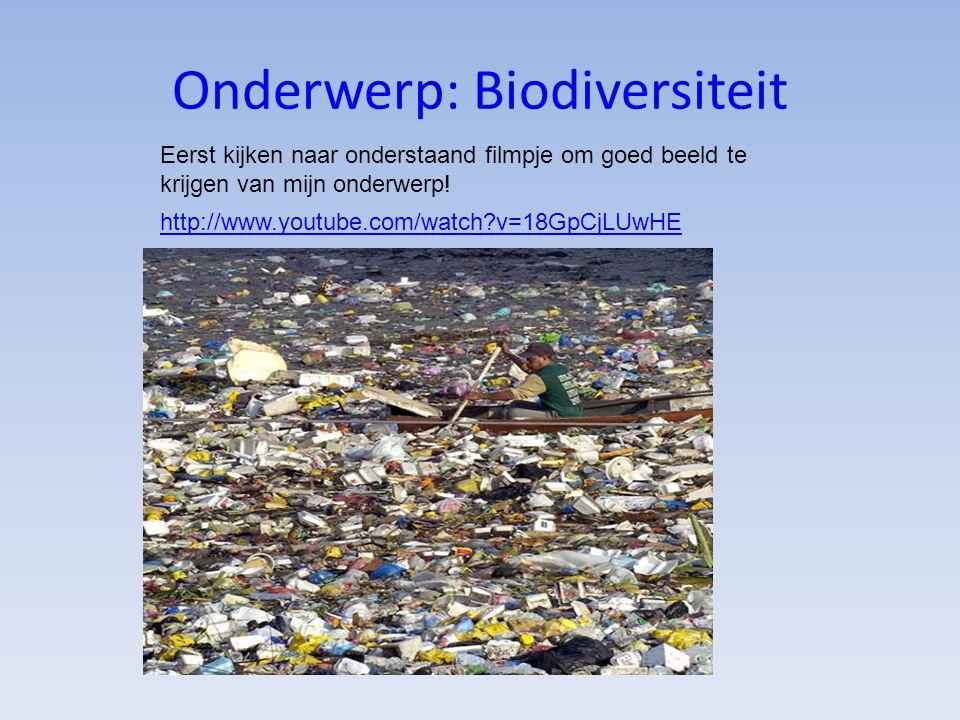 Onderwerp: Biodiversiteit