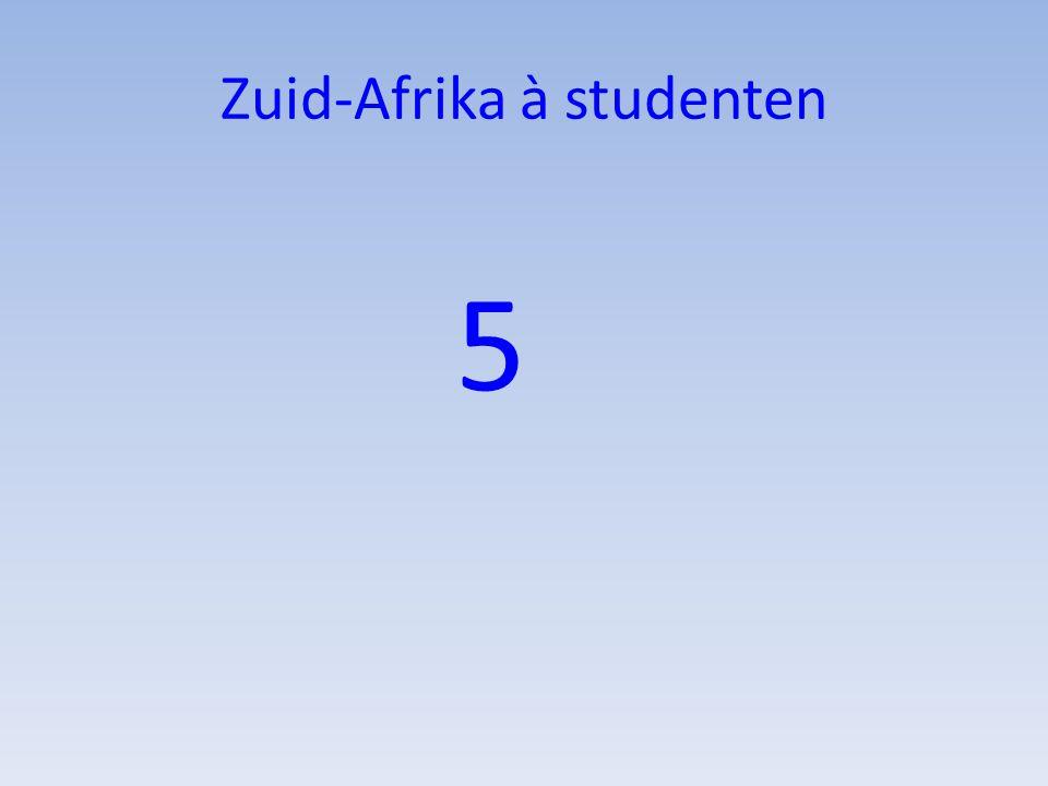 Zuid-Afrika à studenten