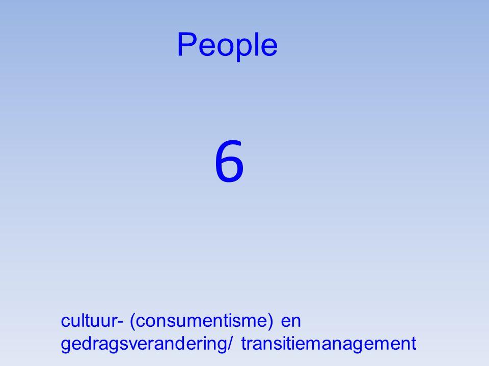 People 6 cultuur- (consumentisme) en gedragsverandering/ transitiemanagement