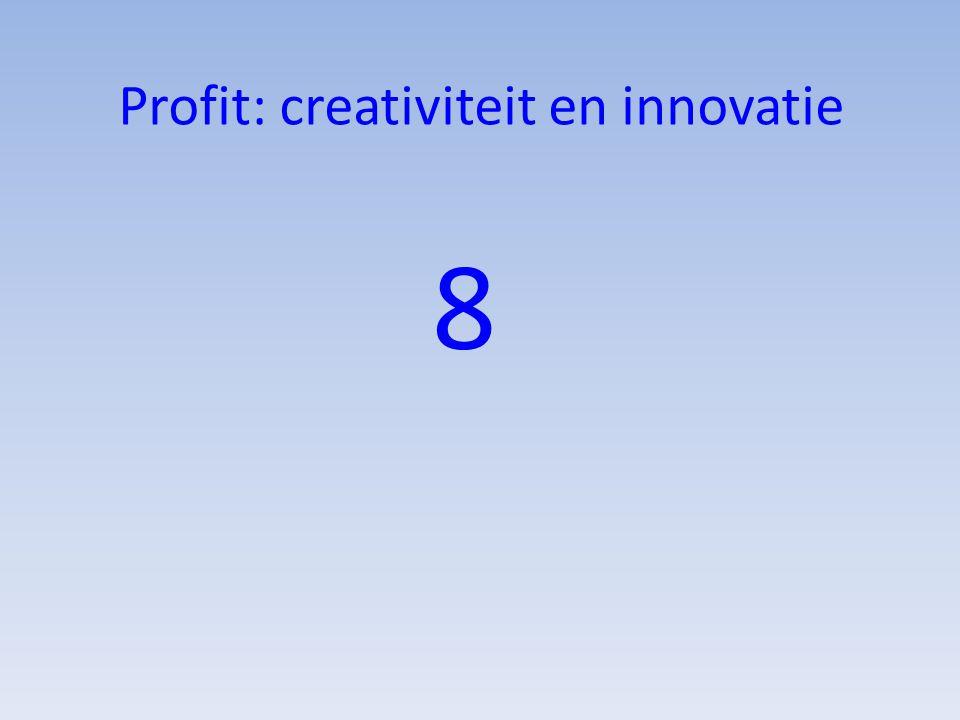 Profit: creativiteit en innovatie