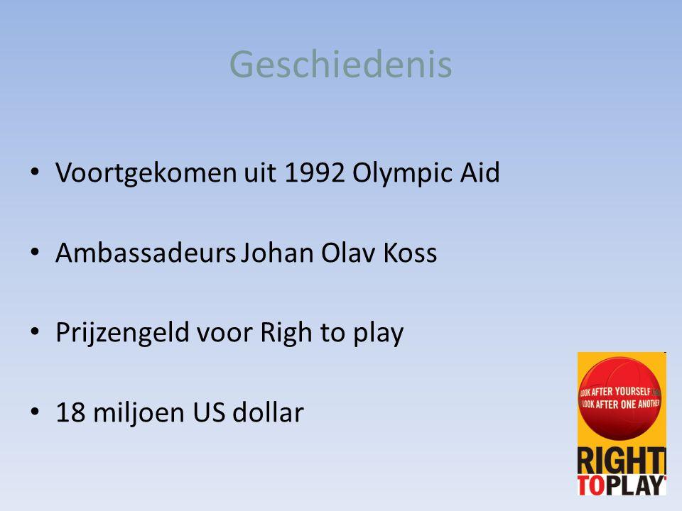 Geschiedenis Voortgekomen uit 1992 Olympic Aid