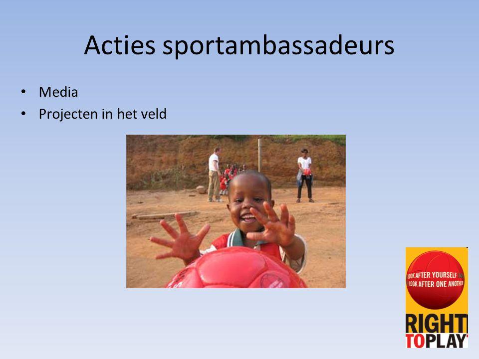 Acties sportambassadeurs