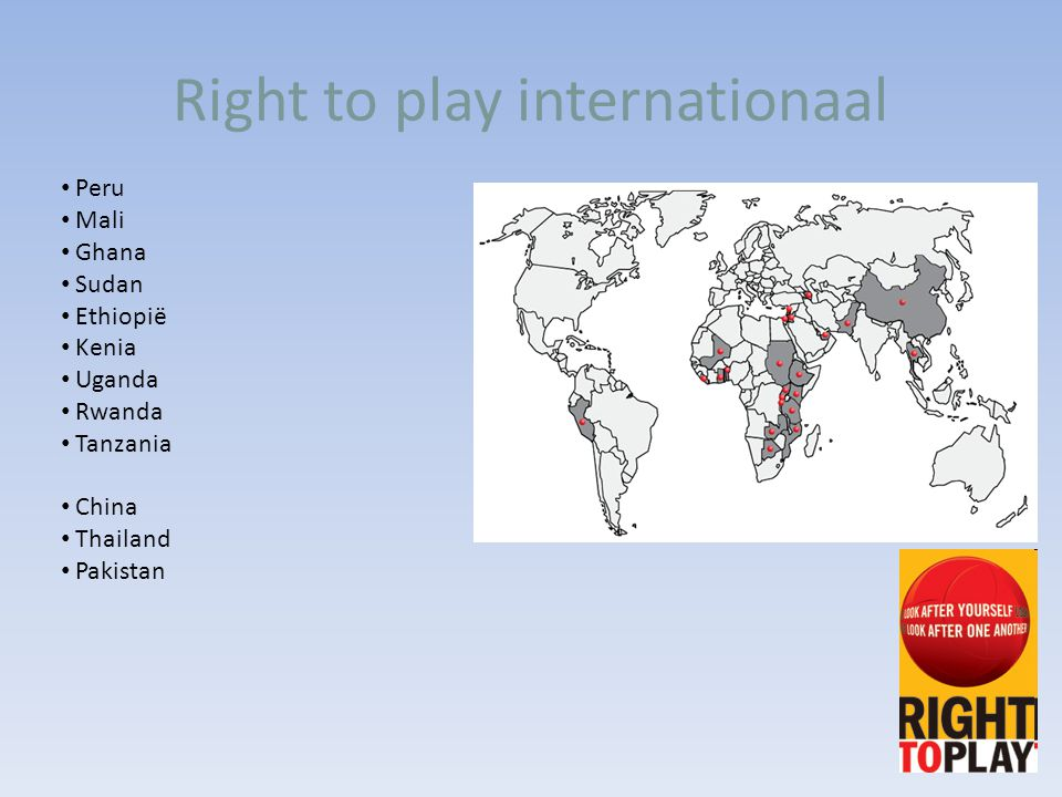 Right to play internationaal