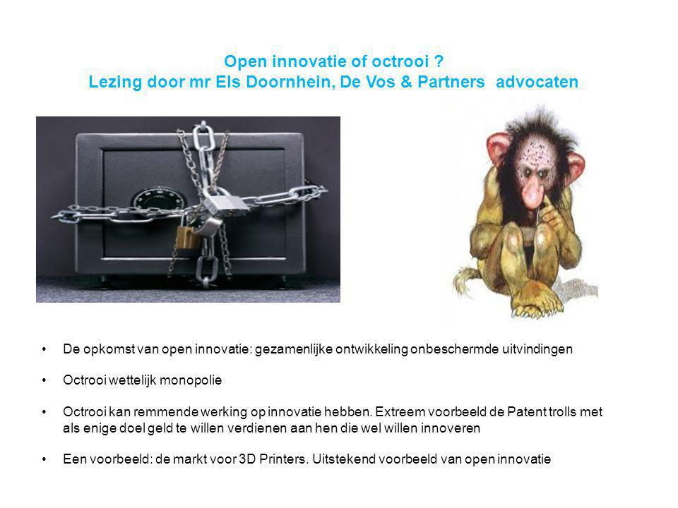 Open innovatie of octrooi