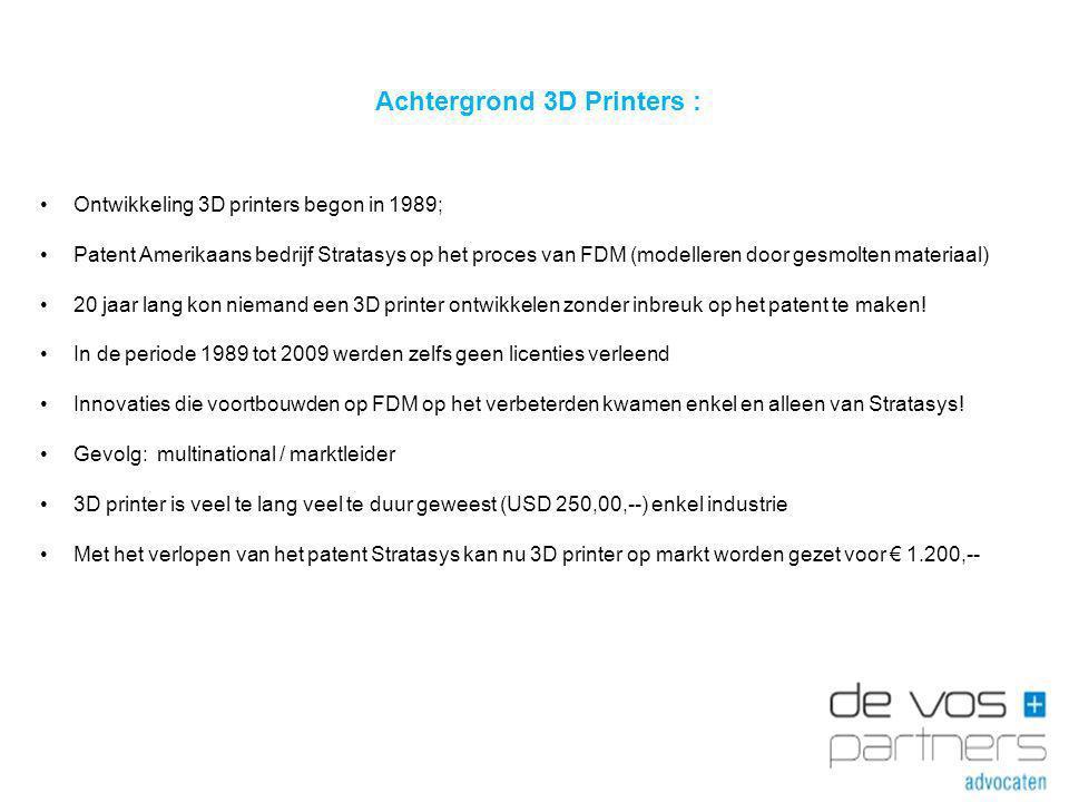 Achtergrond 3D Printers :