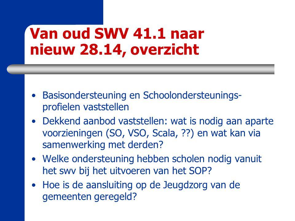 Van oud SWV 41.1 naar nieuw 28.14, overzicht