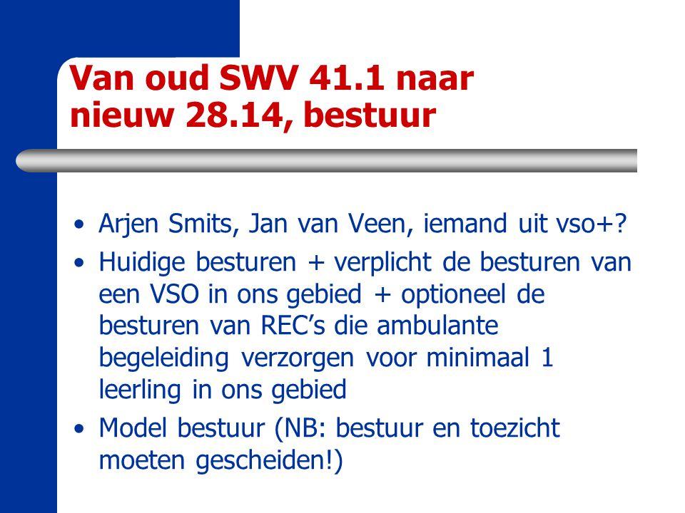 Van oud SWV 41.1 naar nieuw 28.14, bestuur