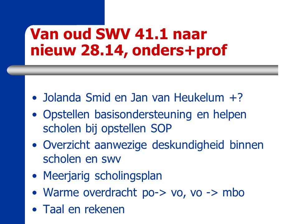 Van oud SWV 41.1 naar nieuw 28.14, onders+prof