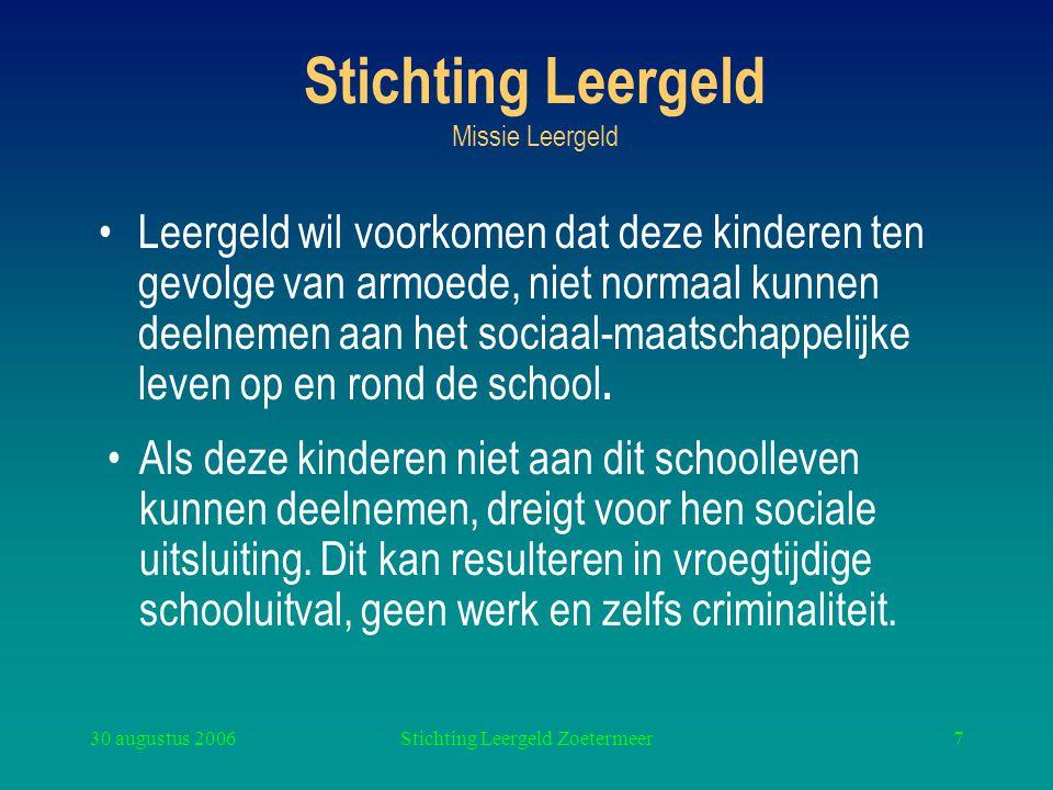 Stichting Leergeld Missie Leergeld