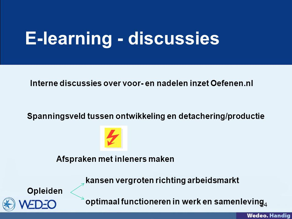E-learning - discussies