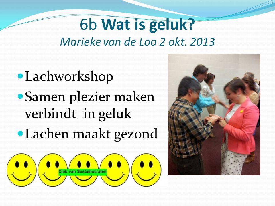 6b Wat is geluk Marieke van de Loo 2 okt. 2013